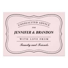 advice to the and groom cards well wishes advice invitations announcements zazzle