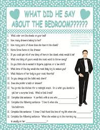 bridal shower question what did he say about his bridal shower with