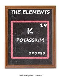 Potassium On Periodic Table Potassium Chemical Element Stock Photos U0026 Potassium Chemical
