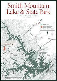 virginia state parks map sherpa guides virginia mountains smith mountain lake state