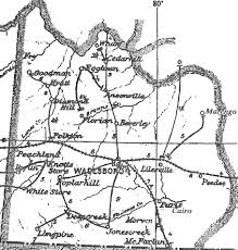 Nc Counties Map Anson County Nc Map Circa 1900