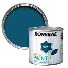 ronseal midnight blue garden paint 250ml departments diy at