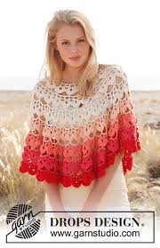 drops design poncho popsicle drops 147 1 free crochet patterns by drops design