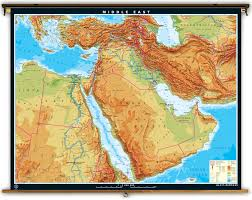 South Asia Physical Map by Klett Perthes Extra Large Physical Map Of The Middle East