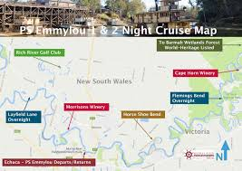 Tripadvisor Map 2 Night Golf U0026 River Heritage Cruise Murray River Paddlesteamers