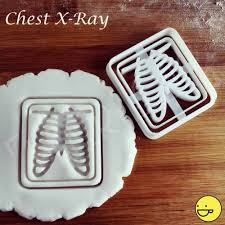 chest x ray cookie cutter biscuit cutters gifts radiologists