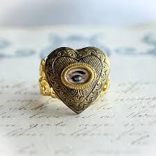 eye shaped rings images Lovers eye miniature painting locket ring by asunder jpg