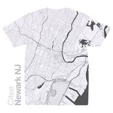 newark map citee fashion newark nj map t shirt