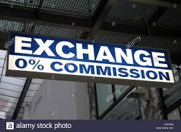 stock bureau bureau de change 0 commission exchange sign in prague