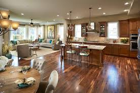Open Concept Kitchen Floor Plans Partially Open Concept Kitchen Kitchen Traditional With Open