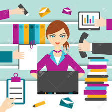 Front Desk Secretary Jobs by Hard Working Secretary Royalty Free Cliparts Vectors And Stock
