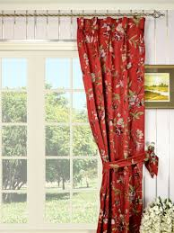 Faux Silk Embroidered Curtains Silver Embroidered Cheerful Goblet Faux Silk Curtains