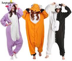 animal fox monokuma kugurumi pajama sets panda stitch onesie