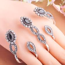 hand with rings images Carved flowers vintage pretty exquisite mid rings fashion turkish jpg