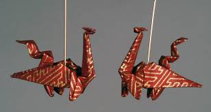 origami earrings earrings the paper crane origami