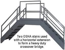 Deck Stair Handrail Height Galvanized Stairs Metal Stairs Osha Prefab Stairways