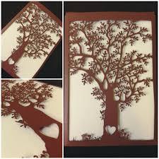 laser cut love tree wedding invitations