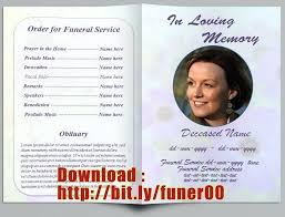 programs for funerals free memorial templates memorial cards for funeral template free