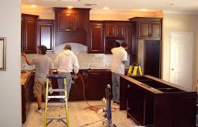 kitchen cabinet install team c u0026 l design specialists inc