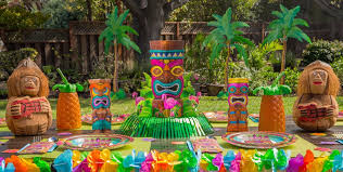 hawaiian theme party summer table decorations summer centerpieces party city