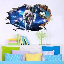 3d wall stickers wallpaper space astronauts decor kids room decal 3d wall stickers wallpaper space astronauts decor kids room decal art gifts