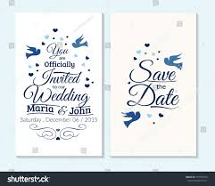 Wedding Invitations And Thank You Cards Wedding Invitation Thank You Card Save Stock Vector 319593344