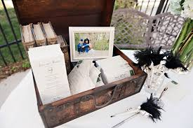 wedding gift book vintage wedding guest book table utah summer wedding retro