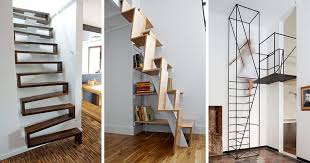 Alternate Tread Stairs Design 13 Stair Design Ideas For Small Spaces Contemporist