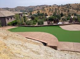 Backyard Putting Green Installation by Fake Grass Carpet West Sedona Arizona Backyard Putting Green