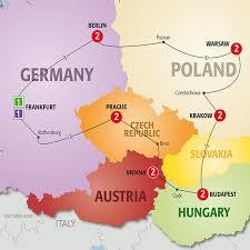 bohemia map costsaver by trafalgar tours highlights of bohemia 2016