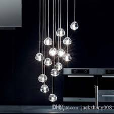 Ball Chandelier Lights Discount 15 Lights Contemporary Clear Gold Crystal Glass Sphere