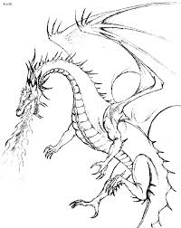 dragon coloring pages realistic 25387 bestofcoloring