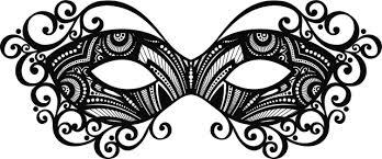 black and white masquerade masks black masquerade mask clipart clipartxtras