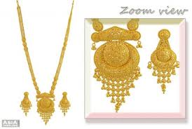 gold long necklace set images 22kt gold long necklace set ajns55017 22kt gold necklace and jpg