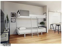 Bunk Beds Hover Compact Fold Away Wall Bunk Beds Expand Furniture