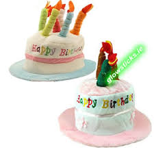 musical birthday hat ireland blue boys pink girls music birthday