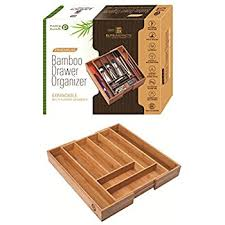 Lipper International Bamboo Kitchen Drawer Dividers by Amazon Com Birdrock Home Bamboo Expandable Utility Drawer