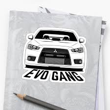 white mitsubishi lancer mitsubishi lancer evolution 10 evo gang shirts