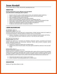 resume examples for construction worker formatmemo
