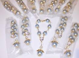 rosary favors for baptism 12 favors christening rosary baptism recuerdos bautizo azulitos