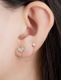 second earrings ear piercing with diamonds studs accessorize earrings