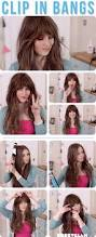 how to get a look with bangs without cutting your hair alldaychic