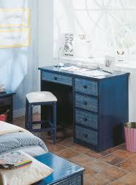 bureau en rotin bureau bleu en rotin brin d u0027ouest