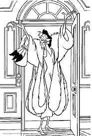 cruella deville coloring pages 101 dalmatians cruella devil