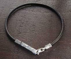 leather with silver bracelet images Designer silver men 39 s bracelet love2have in the uk jpg