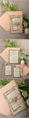 rustic wedding invitation kits rustic eco lace laser cut wedding invitation kits