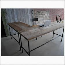 Large L Desk by Office Furniture Diy Reclaimed Wood Desk With Drawers And Shaped
