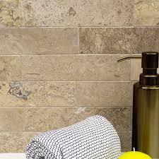 shop 9 pcs sq ft travertine 2x8 brushed stone tile at tilebar com