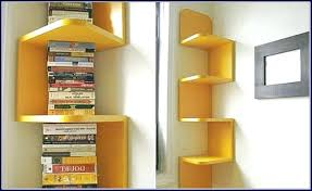 Corner Bookcase Ideas Corner Bookcase Ideas Unique Yellow Corner Bookcase Idea Kitchen