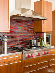 how to put up tile backsplash in kitchen glass tile backsplash inspiration better homes gardens